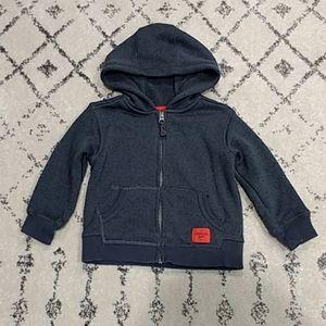 Oshkosh Toddler Boys Zip-up Sweater Hoodie, Gray